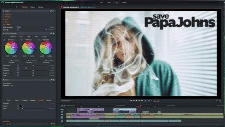 Lightworks editing video
