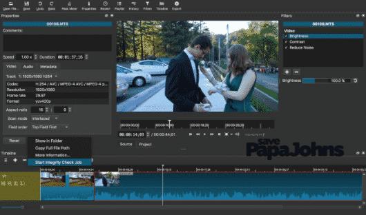 Shotcut editing video
