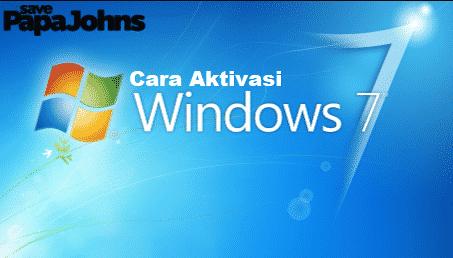 5 Cara Aktivasi Windows 7 Permanen 100 Berhasil