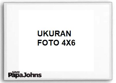 ukuran foto 4x6
