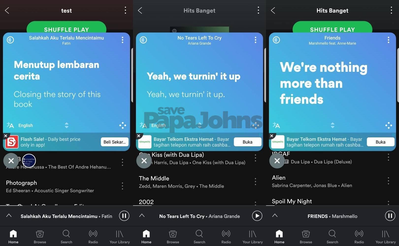 spotify premium mod lirik