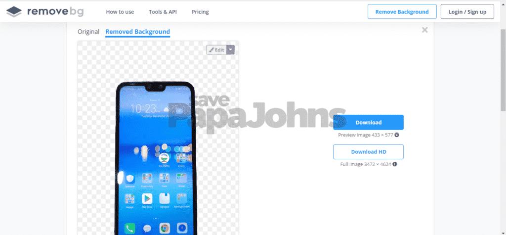 cara mengganti background secara online