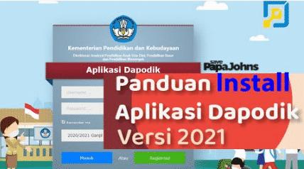 cara instal dapodik 2021 c